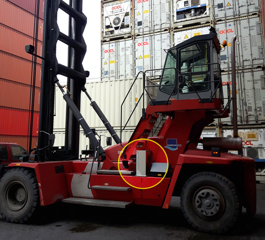 Container Handler with Empire Hydrogen Fuel Enhancement System